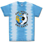 Soccer Argentina World Cup One World Soccer T-Shirt Jersey Tie Dye Short Sleeve
