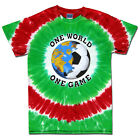 Soccer Mexico World Cup One World Soccer T-Shirt Jersey Tie Dye Short Sleeve