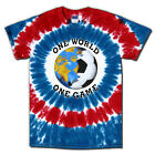 USA World Cup Soccer T-Shirt Jersey One World Tie Dye Short or Long Sleeve Tee