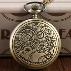 Vintage Quartz Doctor Who Necklace Pocket Watch Chain Man Woman Xmas Gift