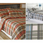 Tartan Flannelette Duvet Cover Set in Quality 100% Brush Cotton – Thick & Warm