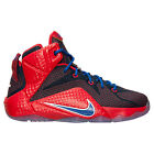 NEW Boys Kids Youth NIKE LEBRON XII 685181 601 Red Blue Sneakers Shoes NO BOX