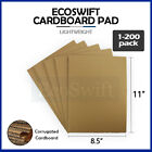 """1-200 EcoSwift Corrugated Cardboard Pad Filler Insert 32 ECT 1/8"""" Thick 8.5 x 11"""