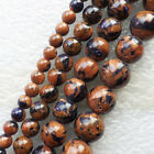 XX2844 Beautiful Gold Blue Sand Stone  6-12mm Round Loose bead 15.5 inch