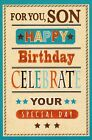 open SON happy birthday card - 5 x cards to choose from!