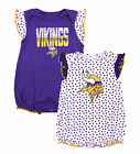 Minnesota Vikings NFL Baby Girls 2 Pack Polka Dot Fan Creeper Romper Set
