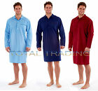 mens nightshirts night shirt summer cool tops poly cotton easy care plain
