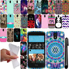 For HTC Desire 526 TPU PATTERN SILICONE Rubber GEL Soft Case Phone Cover + Pen