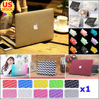"2in1 Silk Leather/ Marble/ Quicksand Hard Case Cover for MacBook Air Pro 11"" 13"""