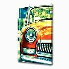 LARGE POP ART RETRO CAR CANVAS ART PRINT 2376