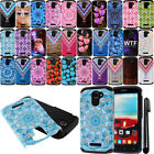 For Alcatel One Touch Fierce 2 7040T Shockproof HYBRID HARD SOFT Case Cover +Pen
