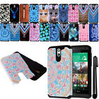 For HTC Desire 610 ShockProof HYBRID Rugged HARD SOFT Silicone Case Cover + Pen