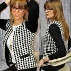 Fashion Women Slim Plaid Suit Jacket Business Blazer Casual Coat Outwear B20E