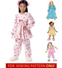SEWING PATTERN! MAKE GIRLS PAJAMAS~SHORTY PJS! NIGHTGOWN~NIGHTIE IN 2 LENGTHS!