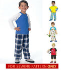 SEWING PATTERN! MAKE BOYS PAJAMAS~SHORTY PJS! SLEEPWEAR! SIZES 3~5 OR 6~8!