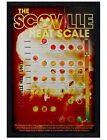 Black Wooden Framed The Scoville Heat Scale Maxi Poster 61x91.5cm
