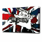 0066 PISTOLS ANARCHY UNION JACK CANVAS PRINT