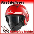 SHARK RAW 72 Red White Black OPEN FACE URBAN STREET FIGHTER MOTORCYCLE HELMET
