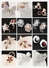 Lot Fashion Stylish Jewelry Wedding Bridal Crystal Butterfly Flower Brooch Lady