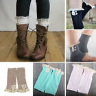 1Pair Fashion Winter Womens Girl Lace Trim Boot Cuffs Toppers Leg Warmers Socks