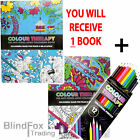 Anti Stress Adult Colour Therapy 32 Page Colouring Book With 12 Pencils Zen Calm