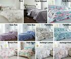 Floral Quilt Duvet Cover & Pillowcase Bedding Bed Set Single Double King Country