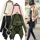 UK 8-20 Women Irregular Long Sleeve Blazer Cardigan Coat Jacket Knitwear Top Hot