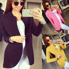 New Women Fashion Outwear Parka Long Sleeve Cardigan Coat Overcoat Jacket Blazer