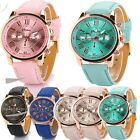 Charming Women's New Leather Strap Big Digit Analog Quartz Dress Wrist Watch