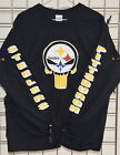 Pittsburgh Steelers: PUNISHER  Long  Sleeve Tee, S, M, L, XL, 2XL, 3XL, 4XL, 5XL