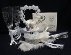 Hello Kitty & Daniel Sweet Cat  Wedding Cake Topper Glasses Knife Serve Book Pen