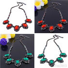 Womens Crystal Party Necklace Pendant Bib Chain Choker Collar Statement New