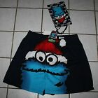 NWT Sesame Street Christmas COOKIE MONSTER Boxers w/Gift Bag ~Size Small~