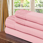 Chic Home Pleated Microfiber Sheet Rose - Twin, Full, Queen, King
