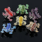 Fashion Animal Frog Crystal Glass Elastic Stretchy Finger Ring Lovely Gift  US 9