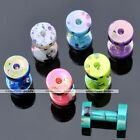 Mix Color Dot Acrylic Screw Ear Plug Tunnel Expander Stretcher Cool Gift