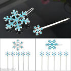 BD 1Set Hot Sale Fashion Women Girl Snow Christmas Brooch Auger Hair Clips