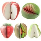 2Pcs Creative Fruits Shaped Notepad Memo STATIONARY NOTES Pad Scratchpad Papers