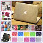 "Quicksand/ Silk Leather/ Matt Hard Case Cover for MacBook 12"" Air Pro 11"" 13""15"""