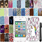 For Apple iPod Touch 4 PATTERN HARD Protector Back Case Cover + Pen