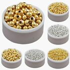 Внешний вид - Wholesale Silver/Gold Plated Round Smooth Spacer Beads 2.5/3/4/5/6mm