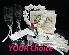 Honda Dirt Bike Motorcycle Track Wedding Cake Topper OR Glasses Server Or Book
