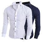 New Men's Long Sleeve Luxury Casual Slim Fit Stylish Dress Shirts Business Top