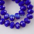 Rondelle Faceted Crystal Glass Loose Spacer Beads Wholesale 3mm-4mm-6mm-8mm-10mm