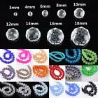 Rondelle Faceted Crystal Glass Loose Spacer Beads Wholesale 3mm/4mm/6mm/8mm/10mm
