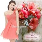 BNWT CHLOE Corsage Chiffon Coral Bridesmaid Prom Occasion Dress Sizes UK 6 - 18