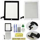 LCD Touch Screen Glass Digitizer Replacement + Adhesive + Tools For iPad 2 3 4
