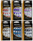 ROYAL METALLIC CHROME FALSE NAILS TIPS CHOICE OF 6 COLOUR BLACK BROWN RED PINK