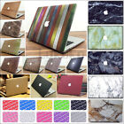 """2IN1 Marble Wood Anti-Scratch Hard Case Cover for Retina 12"""" Air Pro 11"""" 13"""" 15"""""""