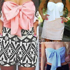 Womens Summer Sleeveless Vest Blouses Waistcoat Tank Crop Tops Bowknot T-Shirts